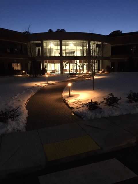 commercial landscape lighting raleigh