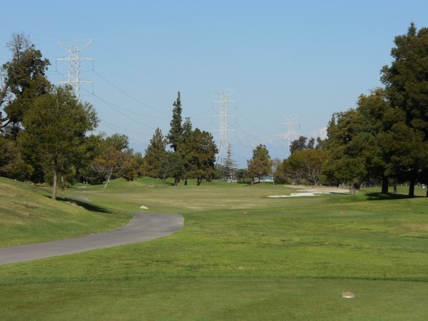 Rio Hondo Golf Club Downey California. Hole 15 Par 5