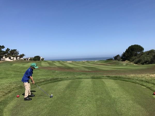 Spanish Bay Golf Links Pebble Beach California Hole 14 Red Tees