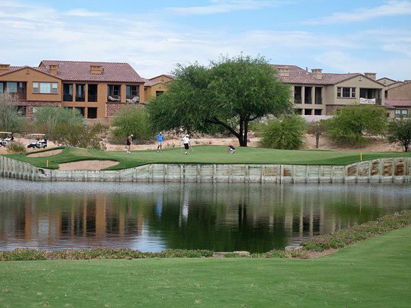 Grayhawk Golf Club (TALON) Scottsdale Arizona. Hole 17 Par 3