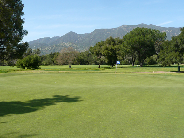 Soule Park Golf Course Ojai California. Hole 5 Green-side