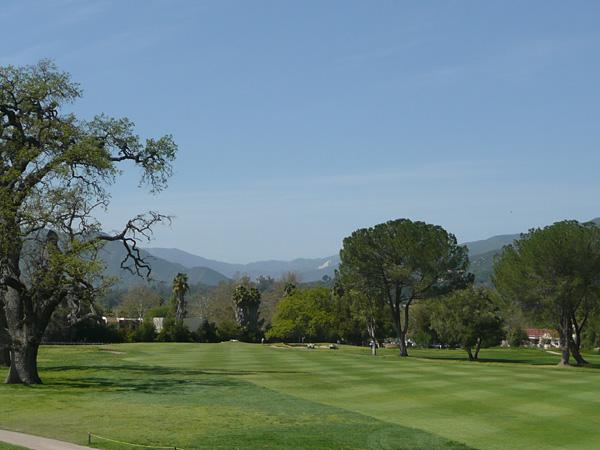 Soule Park Golf Course Ojai California Hole 1 Approach