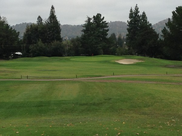 Boundary Oaks Golf Course Walnut Creek California. Hole 12 Par 3
