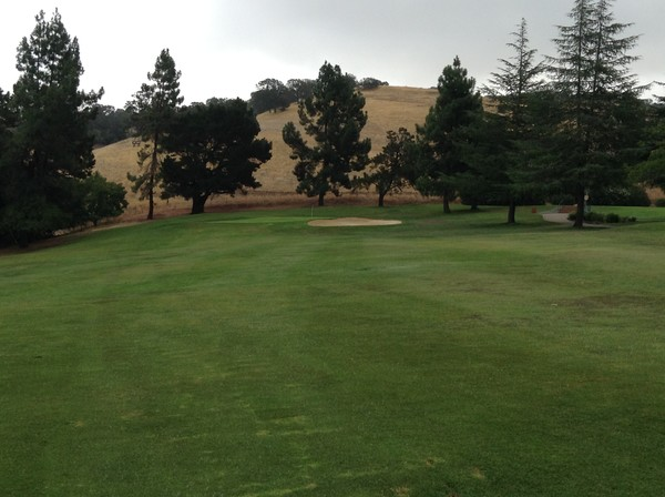 Boundary Oak Golf Course Walnut Creek California. Hole 12 Approach