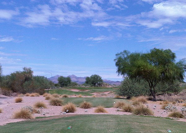 Longbow Golf Club Mesa Arizona. Hole 3