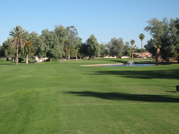 San Marcos Golf Resort Chandler Arizona. Hole 8 Par 3