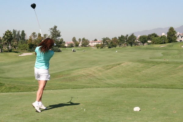 Sierra Lakes Golf Club Fontana California. Hole 18