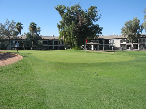 San Marcos Golf Resort Chandler Arizona. Hole 1, Par 4