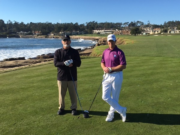Pebble Beach Golf Links Pebble Beach California Hole 18 one of the best finishing holes in Golf