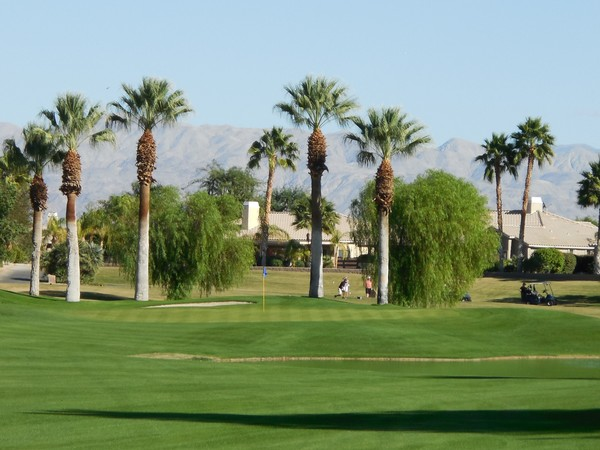 Indian Springs Golf Country Club Indio California. Hole 4 Approach