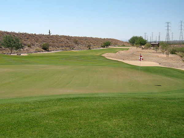 McDowell Mountain Golf Club Scottsdale Arizona. Hole 3 Par 3