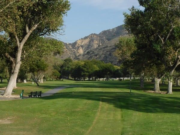 Green River Golf Club Corona, California. Hole 15 view from Tee Box