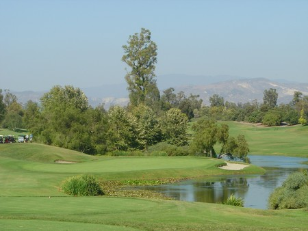Oak Creek Golf Club Irvine, California. Hole 12 View from Tee Box