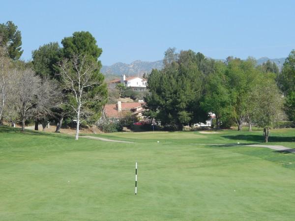 Simi Hills Golf Club Simi Valley California Hole 2 Approach