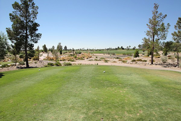 Angel Park Golf Club PALM Las Vegas Nevada. Hole 9