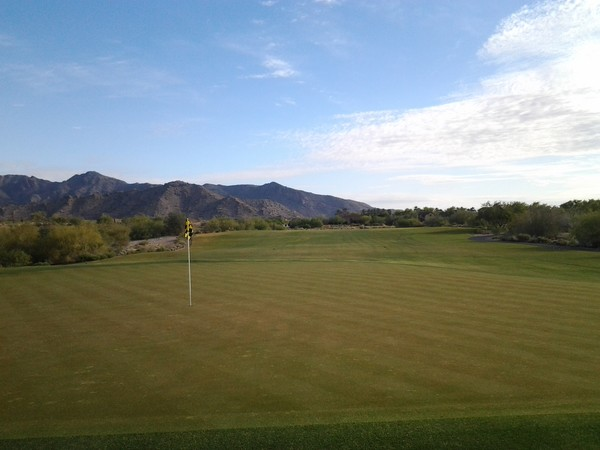 Verrado Golf Club FOUNDERS Buckeye Arizona Hole 1 Looking back