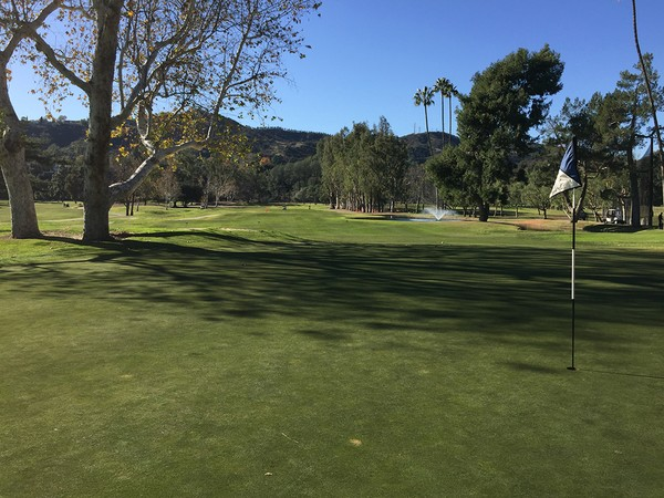 Brookside Golf Course #1 Pasadena, California. Hole 9 Par 4