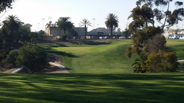Goat Hill Park Golf Course Oceanside, California. Hole 16 Approach