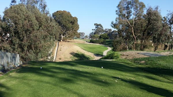 Goat Hill Park Golf Course Oceanside, California. Hole 17 view from Tee Box