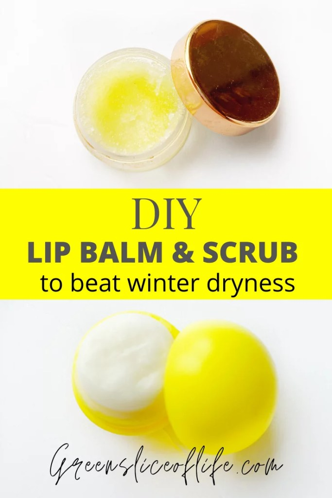 Here is a great DIY Lip balm recipe and lip scrub recipe for those dry winter lips. The scrub will help exfoliate the dried chapped skin, while the lip balm  will  moisturizing, easy, Click to find out how to make your own, it's easy.