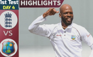 England vs West Indies 1st test day 4 Highlghts