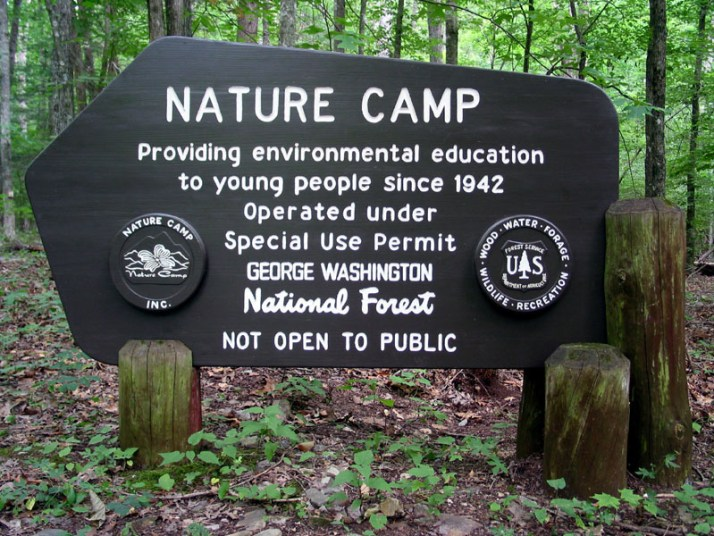 Nature Camp Sign