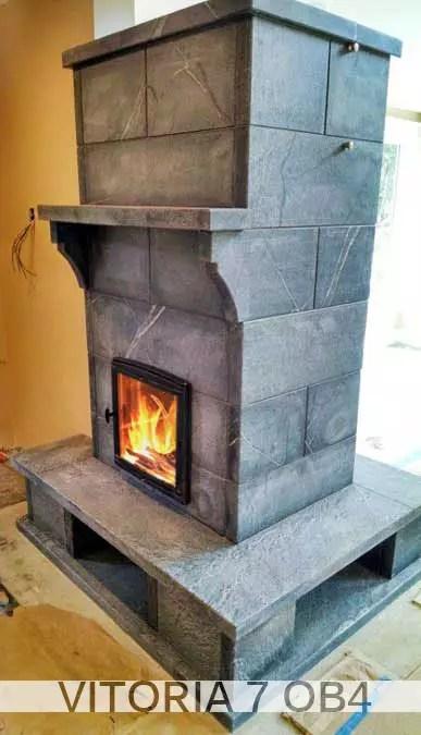 Vitoria Series Greenstone Soapstone Masonry Heaters