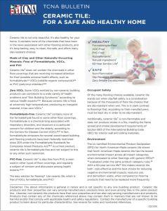 TCNA tile-health-bulletin