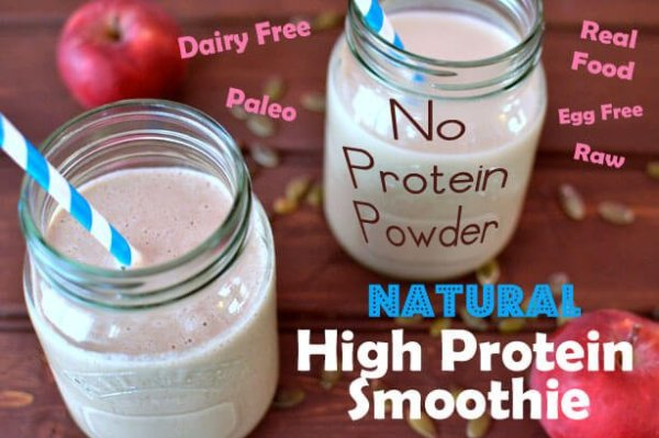 How to make a Natural Protein Shake without Protein Powder ...