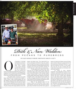 Green Valley Pecan Company and the Waldens featured in National Horseman Arabian magazine