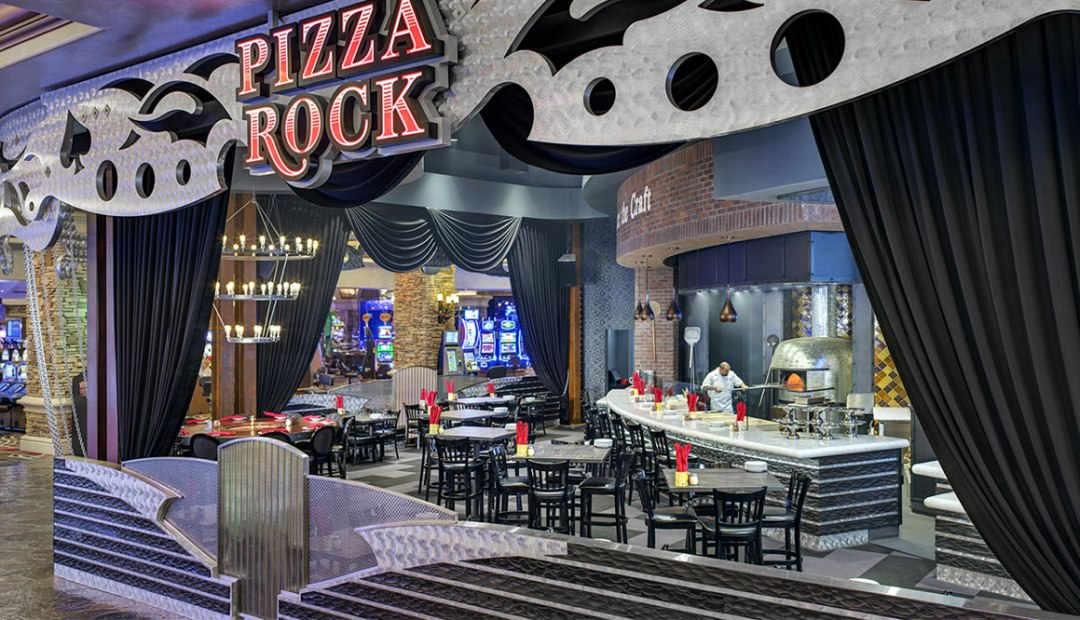 a photo of pizza rock from the entrance
