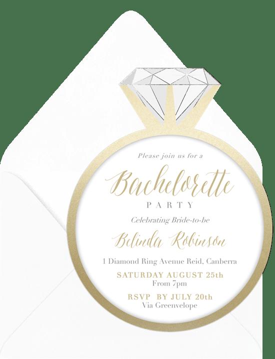 12 Bachelorette Party Invitations For