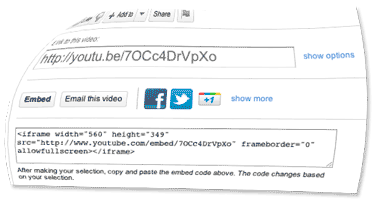 Image of a youtube embed box