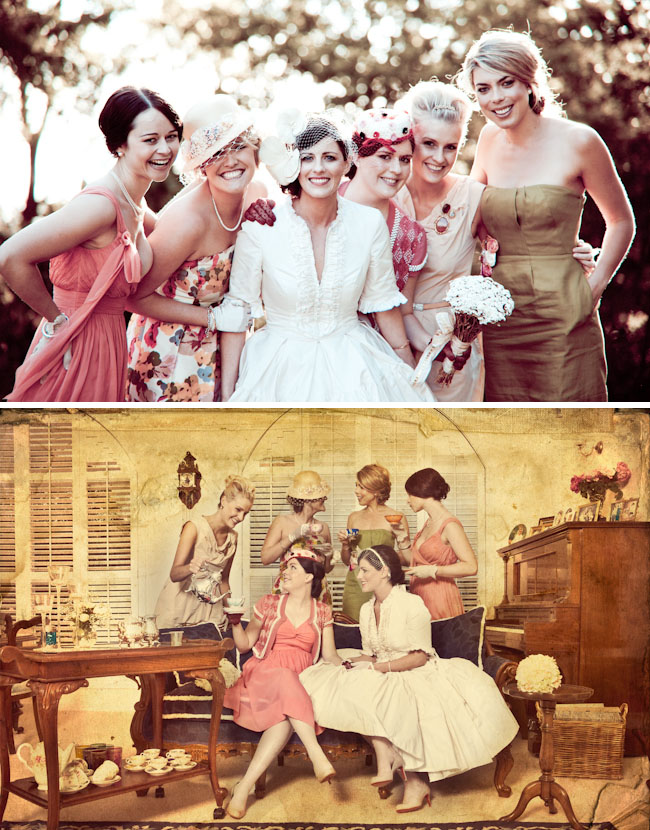 vintage garden party wedding