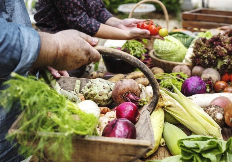 paniers de légumes
