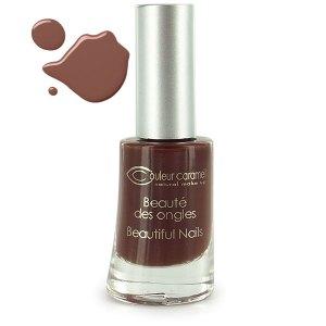 Cosmétiques bio : Vernis à ongles Chocolat Mat Couleur Caramel