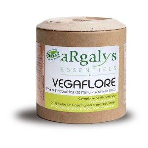 Gélules de ferments pré & probiotiques Vegaflore, aRgalys Essentiels