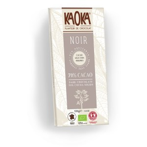 Tablette de chocolat noir 70%, Koka