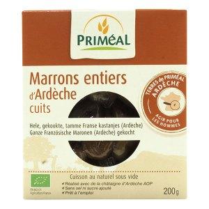 Marrons entiers d'Ardèche cuits, Priméal
