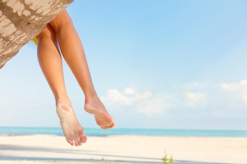 Massage jambes lourdes