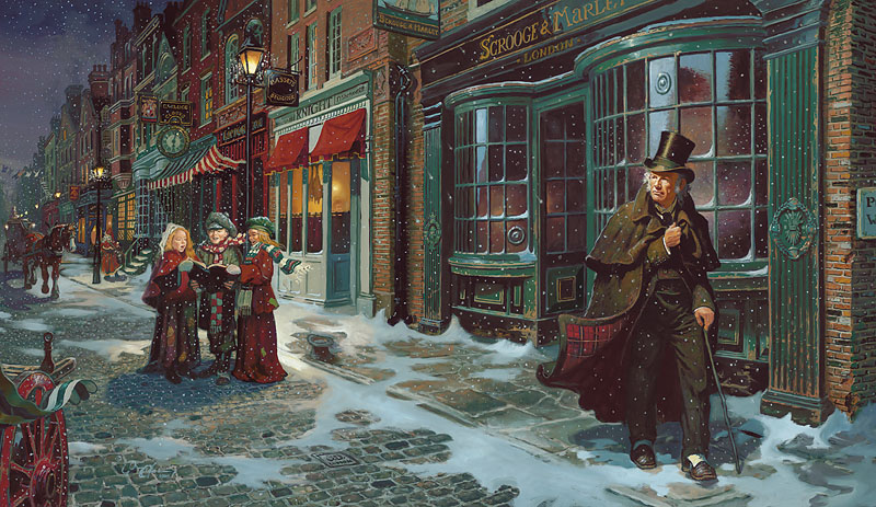 Dean Morrissey A CHRISTMAS CAROL LIMITED EDITION CANVAS