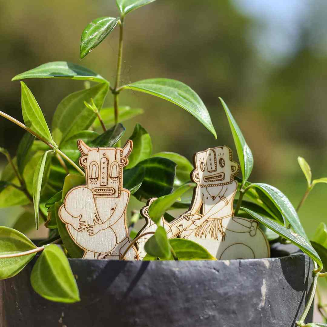 Houseplant accessories - Charaÿd et Cocoman chamans by Miwitipee