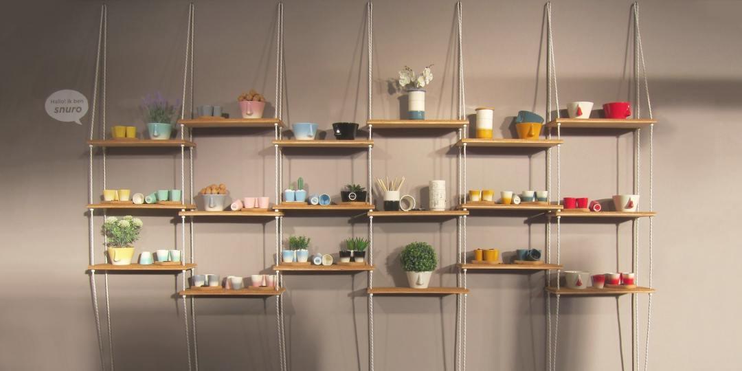 Snuro Suspended Shelf by Irena Ubler for Dedal Portugal