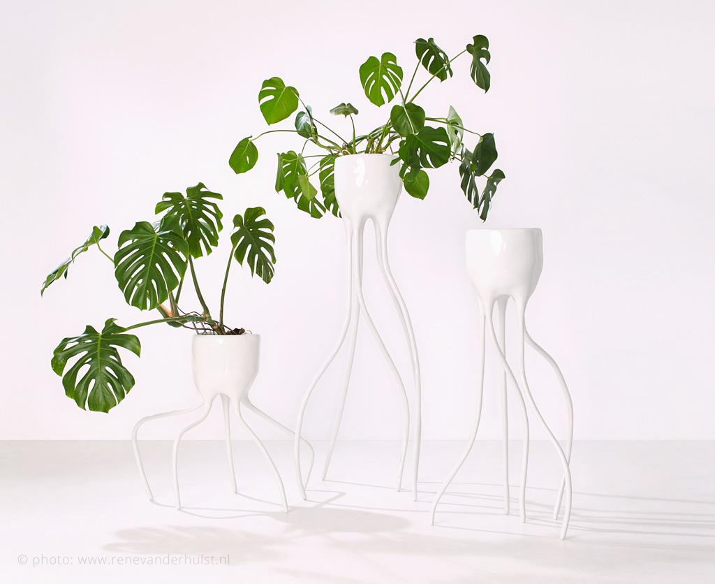 Monstera planters by Tim van de Weerd