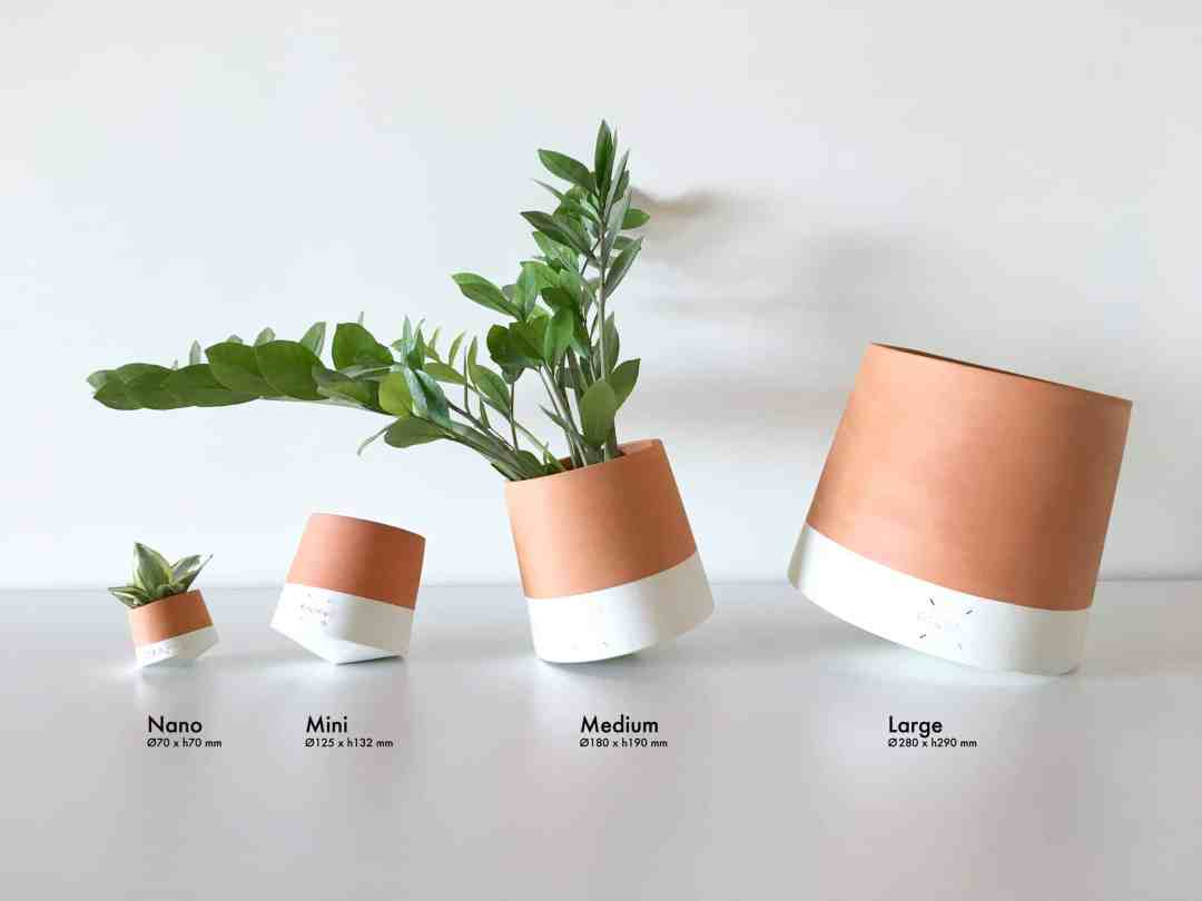 Voltasol flower pot sizes by We Are Living Things