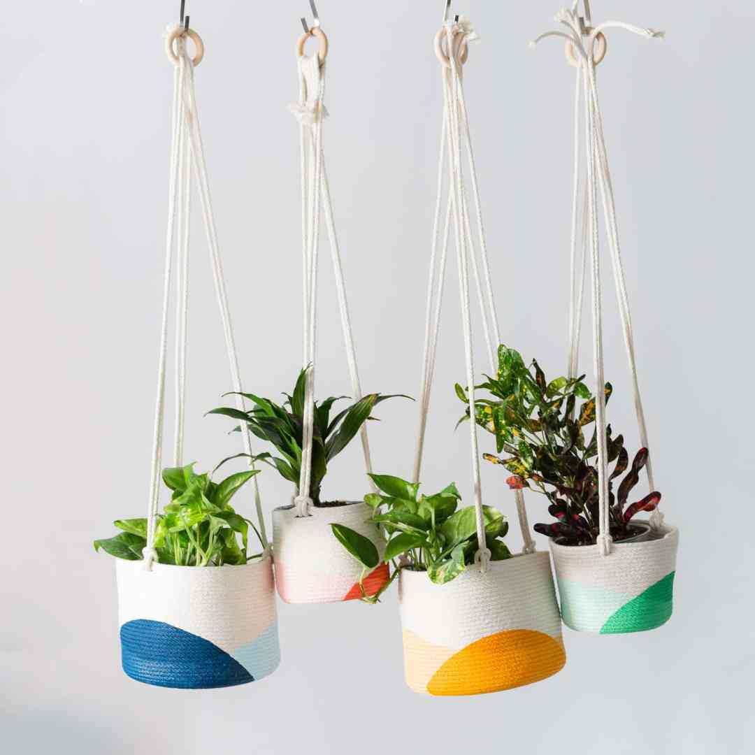 Hanging Planters Made of Rope by Closed Mondays