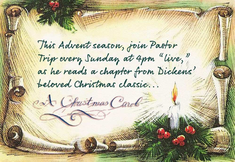 """A Christmas Carol"" (read by Pastor Trip) @ Andrea Lawrence 