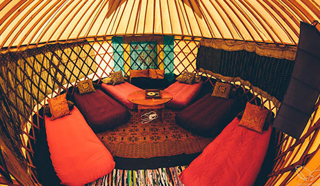 V festival accommodation site