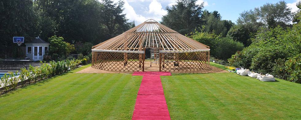 Festival Wedding - 42ft yurt naked