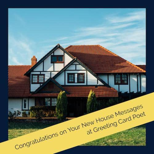 Congratulations New House and Home | Greeting Card Poet